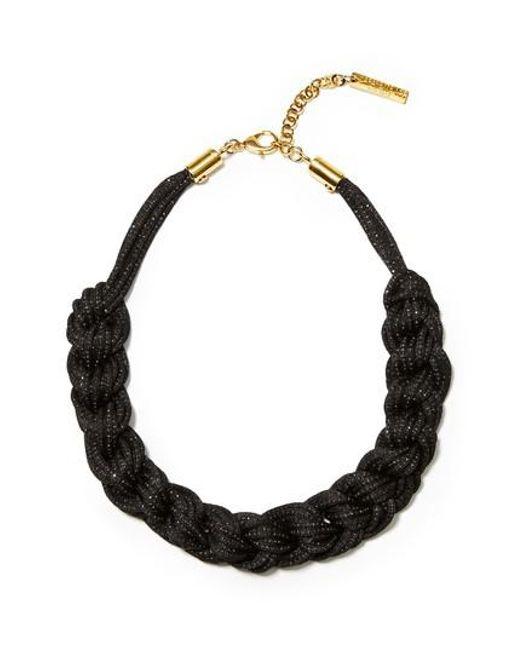 Lafayette 148 New York - Black Braided Mesh Necklace - Lyst