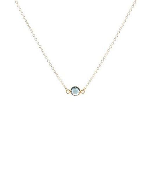 Kris Nations | Metallic Birthstone Necklace | Lyst