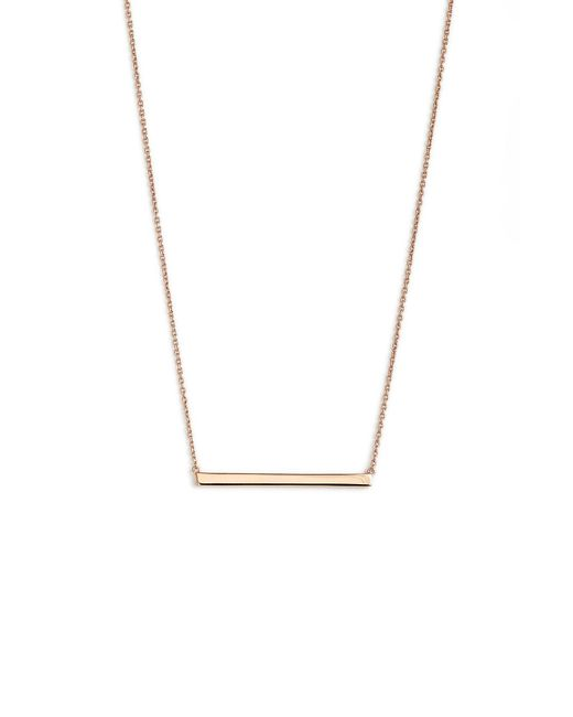Argento Vivo - Metallic Bar Pendant Necklace - Lyst