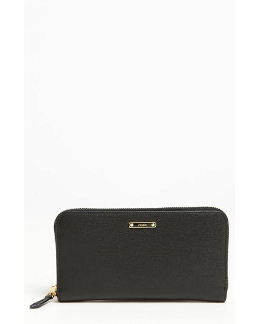 Fendi | Black 'crayons' Leather Wallet | Lyst