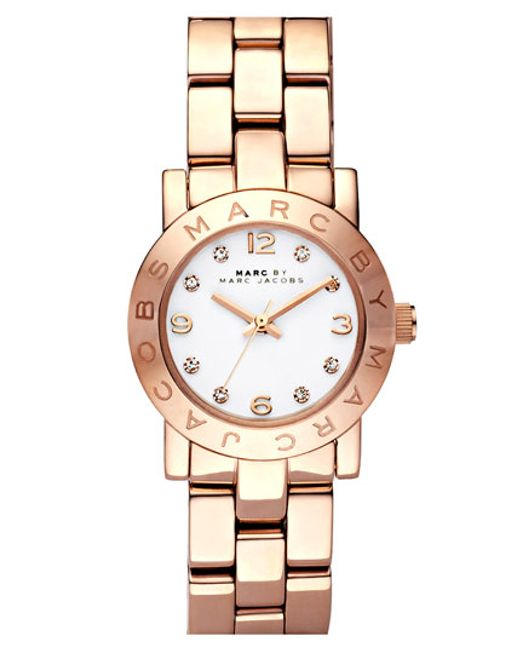 Marc Jacobs   Pink 'small Amy' Crystal Bracelet Watch   Lyst