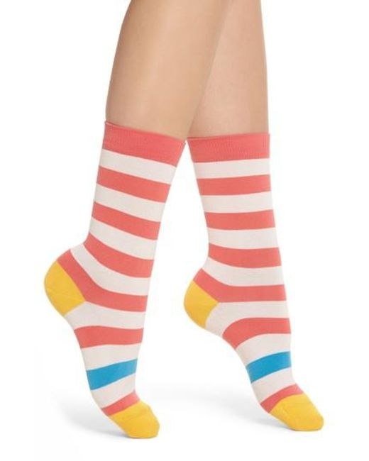 Paul Smith - Pink Fearne Stripe Crew Socks - Lyst
