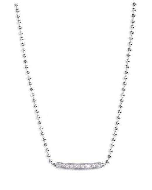 Lagos - Metallic Caviar Spark Diamond Pendant Necklace - Lyst