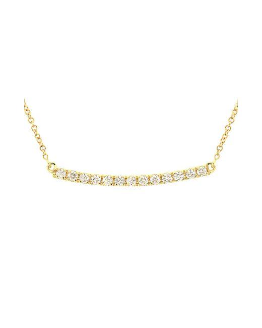 Bony Levy - Metallic Stick Pave Diamond Bar Necklace (nordstrom Exclusive) - Lyst