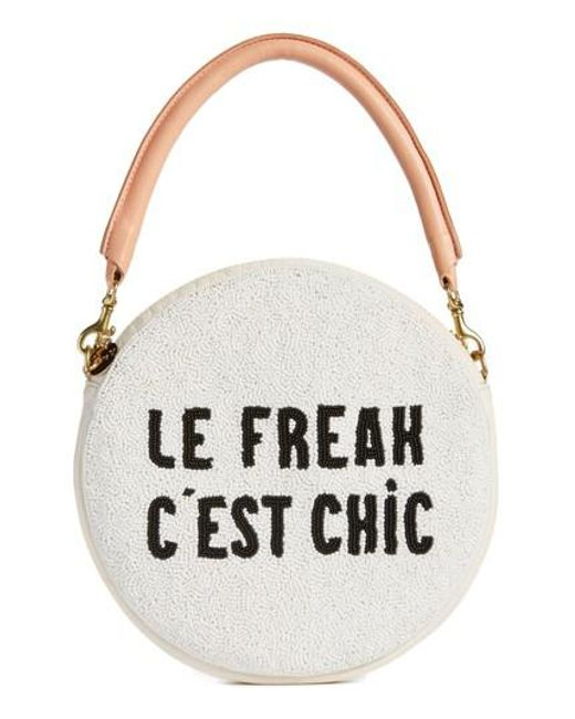 Clare V. - White Le Freak Beaded Circle Clutch - Lyst