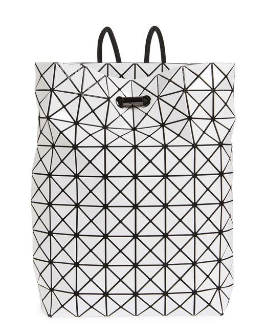 Lyst - Bao Bao Issey Miyake Wring Flat Backpack in White 10e93b4bb0491