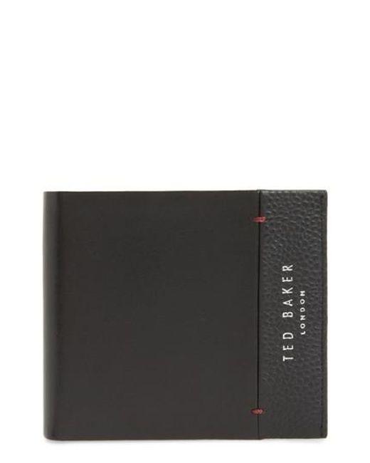Ted Baker | Black Leather Bifold Wallet for Men | Lyst
