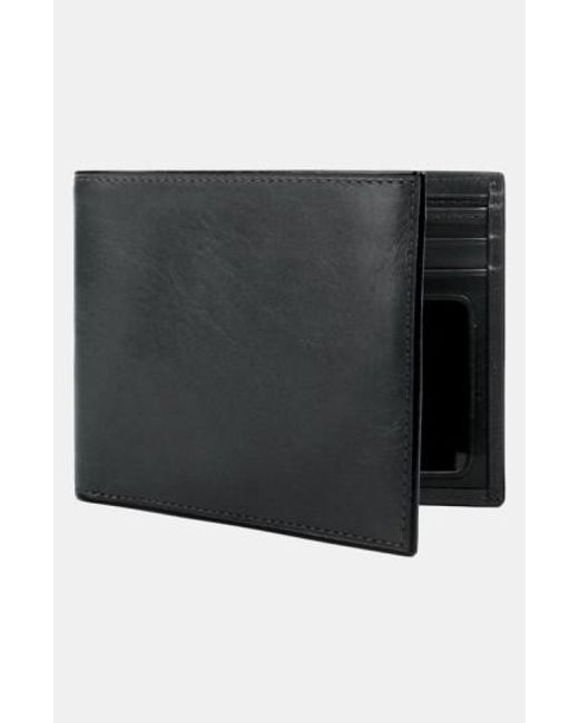 Bosca - Black Leather Bifold Wallet for Men - Lyst