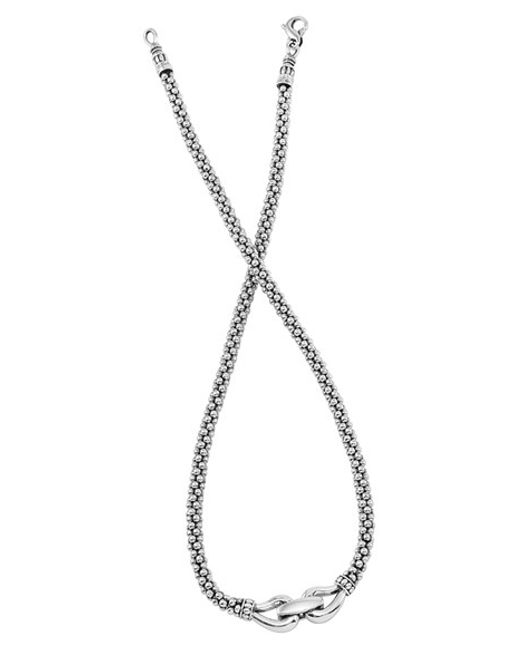 Lagos | Metallic 'derby' Buckle Rope Necklace | Lyst