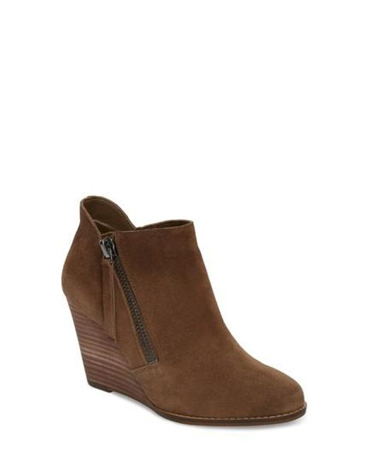 Jessica Simpson | Brown Carnivela Wedge Bootie | Lyst