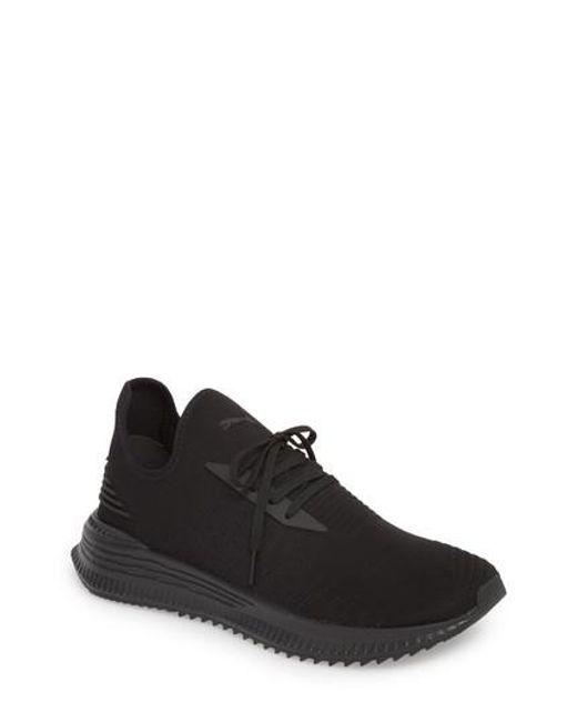 designer fashion b266b 90227 PUMA - Black Avid Evoknit Sneaker for Men - Lyst