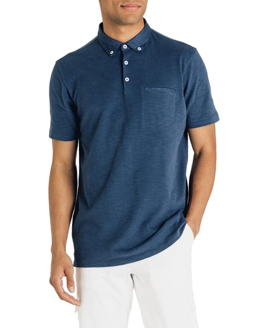Good Man Brand - Blue Slub Jersey Cotton Polo Shirt for Men - Lyst