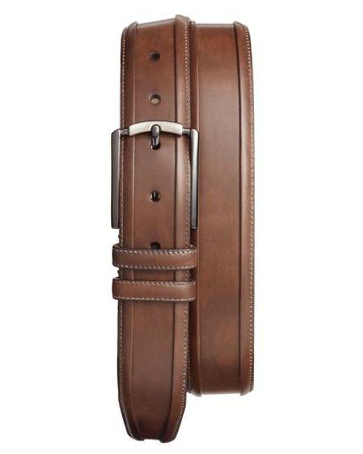 Mezlan - Brown Tequila Leather Belt for Men - Lyst
