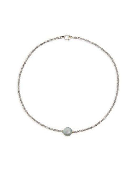 Lagos | Multicolor Luna Pearl Collar Necklace | Lyst
