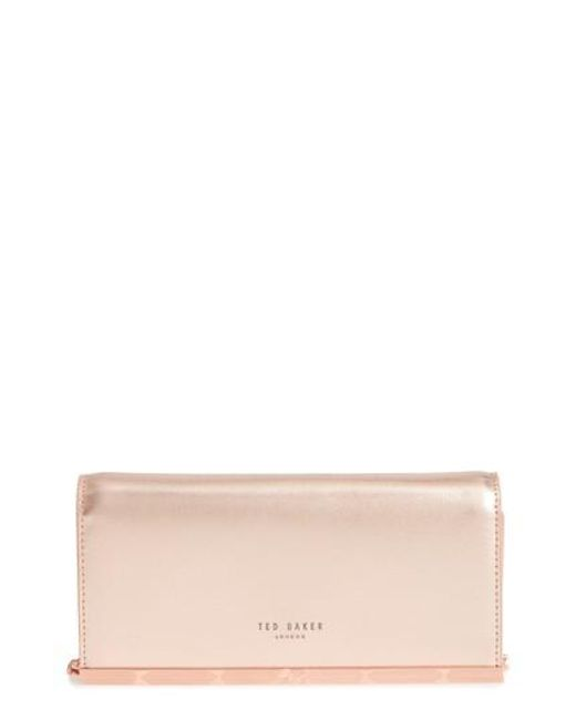 Ted Baker - Pink Leather Matinee Wallet - Lyst