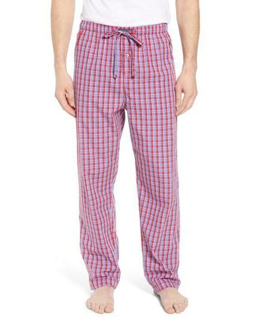 Polo Ralph Lauren - Red Cotton Lounge Pants for Men - Lyst