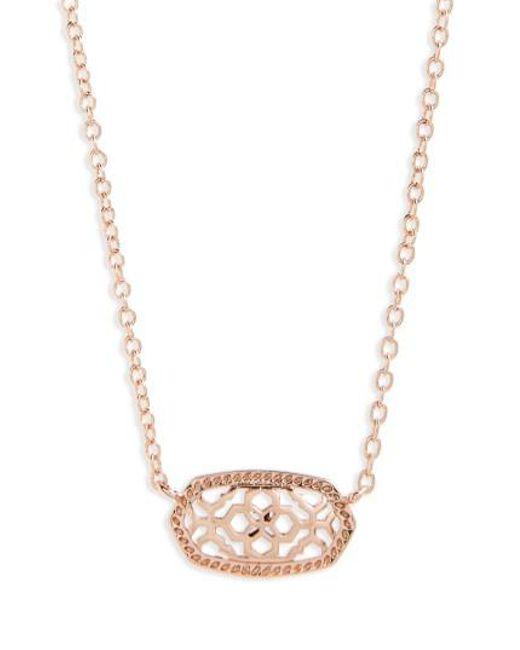 Kendra Scott | Metallic Elisa Filigree Pendant Necklace | Lyst