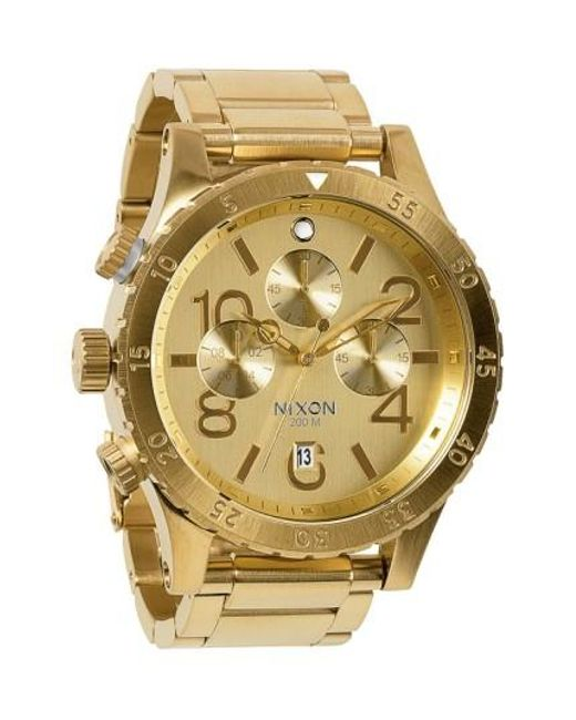 Nixon | Metallic 'the 48-20' Chronograph Watch for Men | Lyst