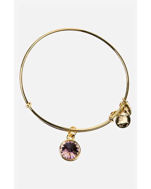 ALEX AND ANI | Purple Birthstone Expandable Wire Bangle | Lyst