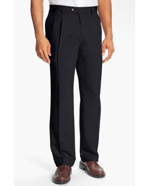 Cutter & Buck | Blue Double Pleated Microfiber Pants for Men | Lyst