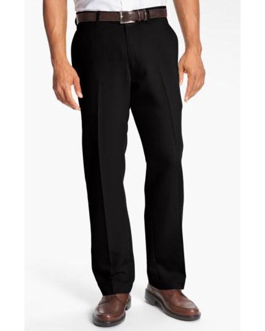 Cutter & Buck   Black Microfiber Twill Pants for Men   Lyst