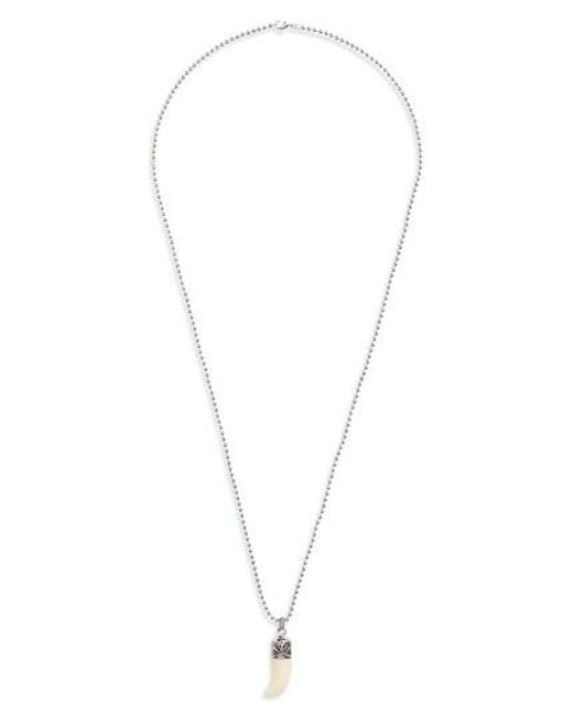 Link Up   Metallic Claw Pendant Necklace   Lyst