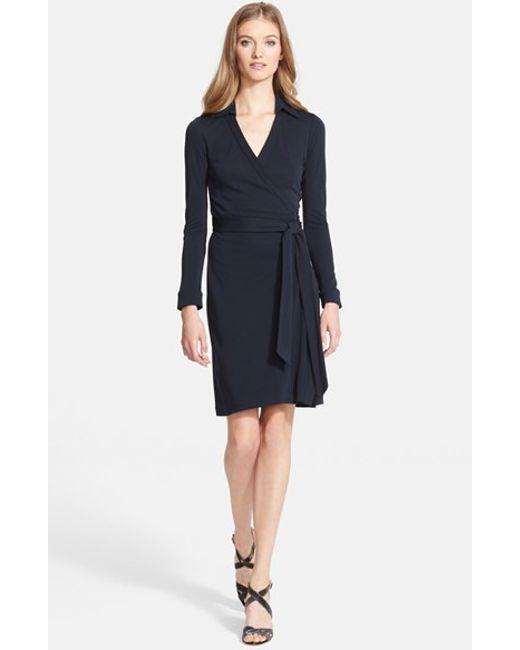 Diane von Furstenberg | Blue 'new Jeanne Two' Jersey Wrap Dress | Lyst