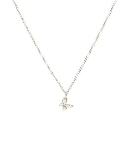 Dogeared | Metallic Butterfly Pendant Necklace | Lyst