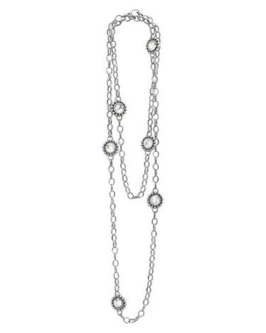Lagos   Metallic 'maya' Long Station Necklace   Lyst