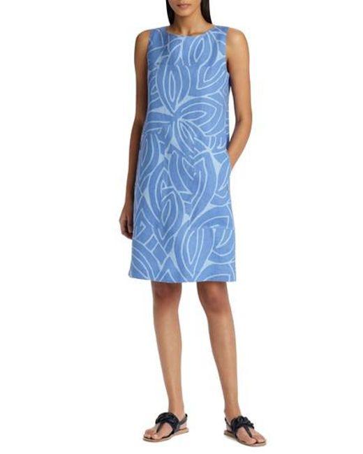 Lafayette 148 New York - Blue Farah Linen Dress - Lyst