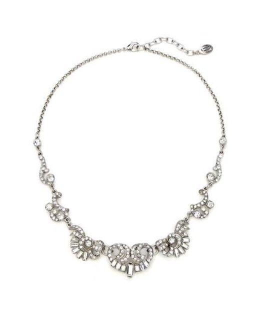 Ben-Amun - Metallic Deco Crystal Silver Necklace - Lyst
