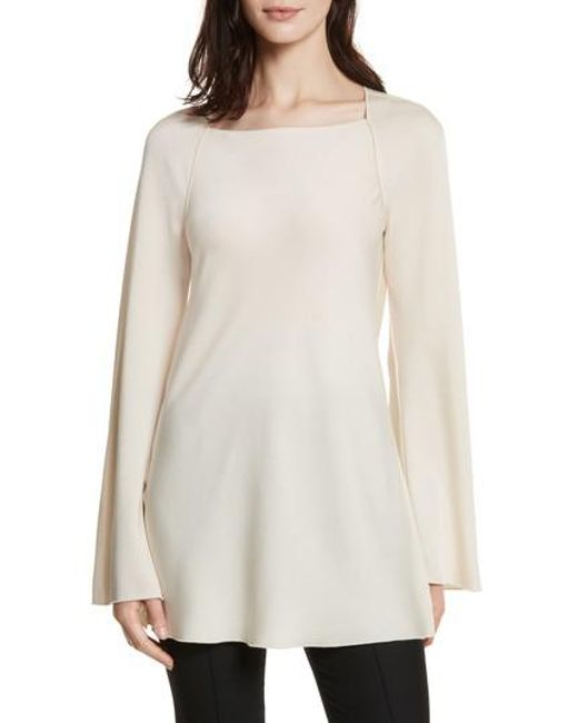 Elizabeth and James | White Danel Twist Cowl Back Top | Lyst