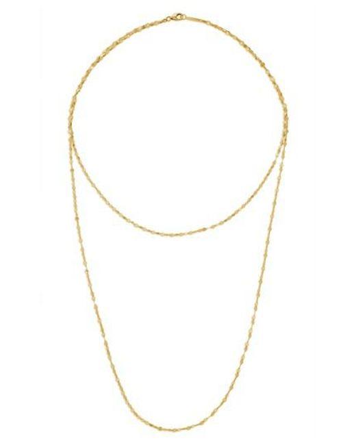 Lana Jewelry - Metallic Double Blake Layering Necklace - Lyst