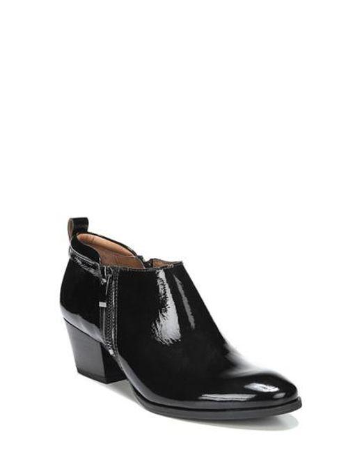 Sarto | Black 'granite' Block Heel Bootie | Lyst