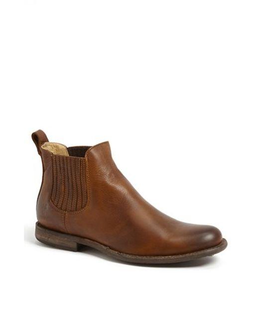 frye 39 phillip 39 chelsea boot in brown for men cognac lyst. Black Bedroom Furniture Sets. Home Design Ideas