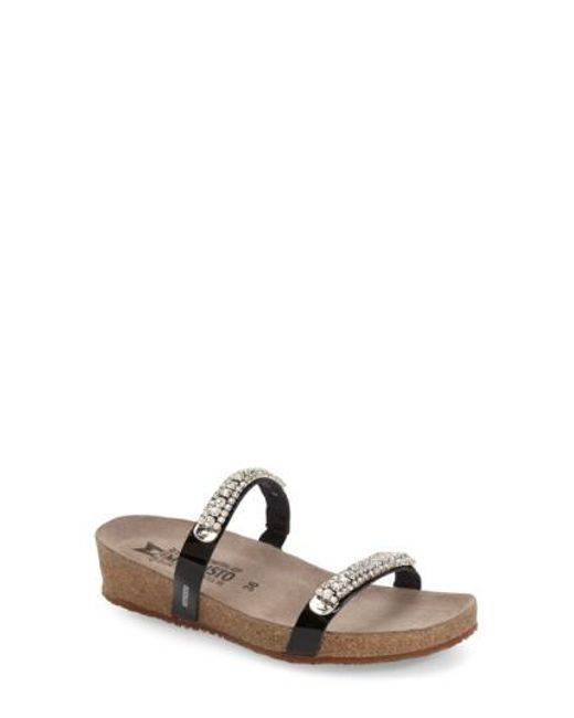 Mephisto - Black Ivana Crystal-Embellished Sandals - Lyst