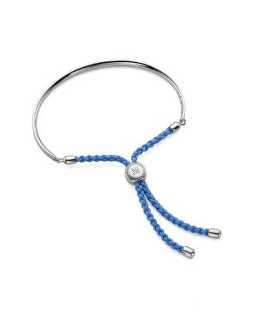 Monica Vinader | Red Fiji Friendship Bracelet Sterling Silver | Lyst