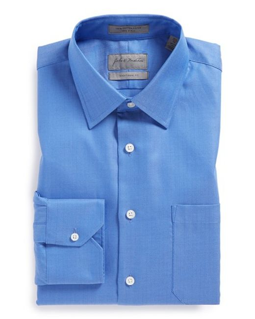 John W. Nordstrom | Blue John W. Nordstrom Traditional Fit Dress Shirt for Men | Lyst