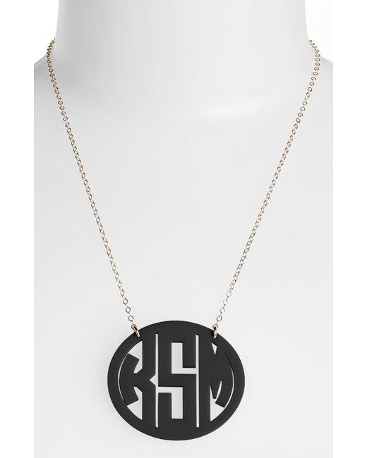 Moon & Lola Metallic Large Oval Personalized Monogram Pendant Necklace (nordstrom Exclusive)