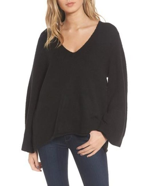 French Connection   Black Urban Flossy Sweater   Lyst