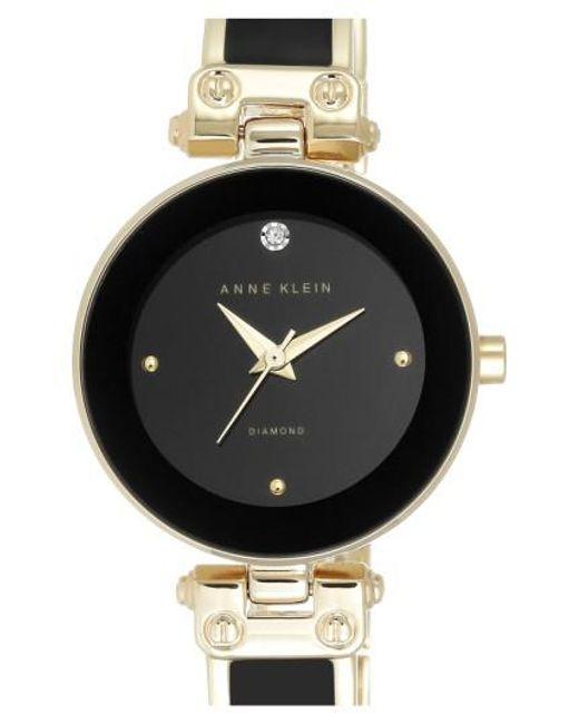 Anne Klein   Metallic Diamond Marker Bangle Watch   Lyst