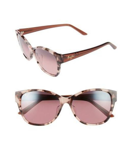 Maui Jim - Pink Summer Time 54mm Polarizedplus2 Cat Eye Sunglasses - Lyst