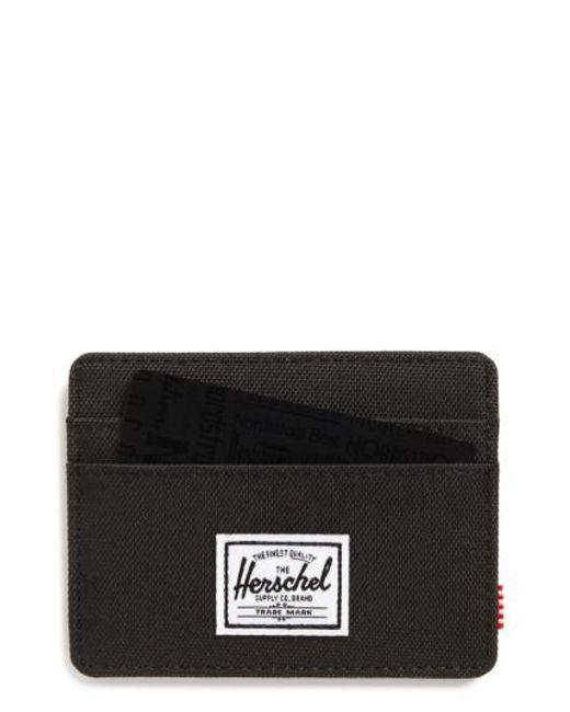 Herschel Supply Co. | Black Charlie Rfid Card Case for Men | Lyst
