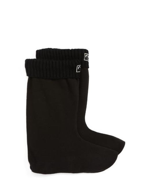 Roma | Black Knit Cuff Fleece Boot Socks | Lyst