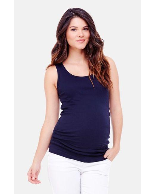 Ingrid & Isabel | Blue Ingrid & Isabel Scoop Neck Maternity Tank | Lyst