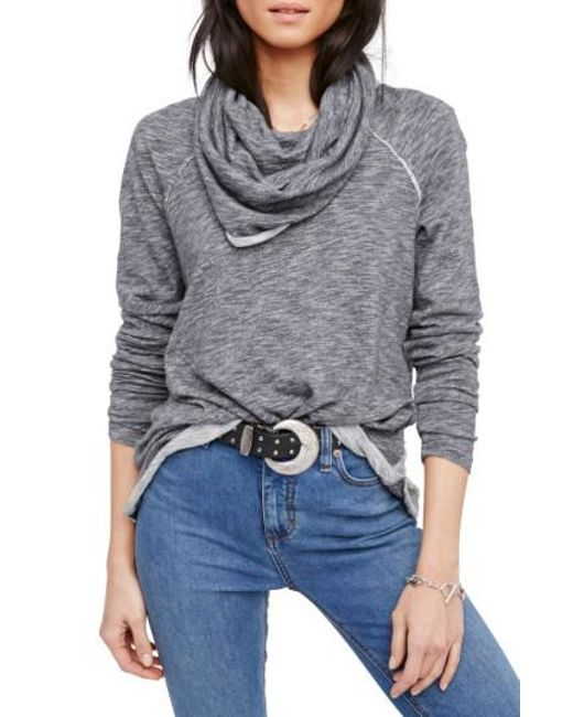 Free People | Gray 'beach Cocoon' Cowl Neck Pullover | Lyst