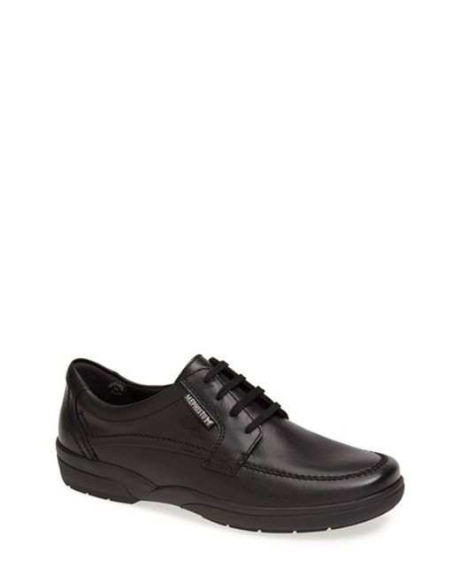 Mephisto | Black 'agazio' Moc Toe Derby for Men | Lyst