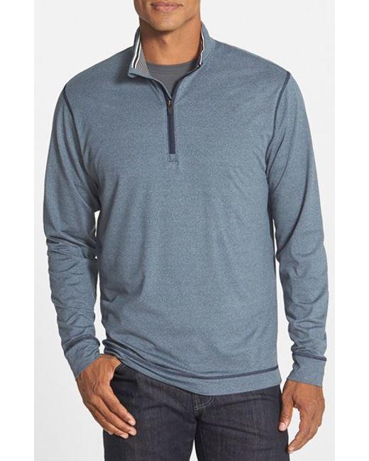 Cutter & Buck | Blue 'topspin' Drytec Half Zip Pullover for Men | Lyst