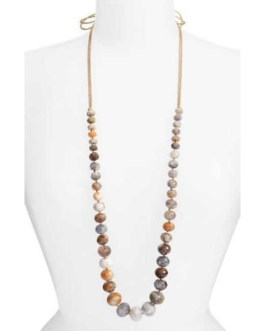 Chan Luu | Metallic Graduated Semiprecious Stone Necklace | Lyst