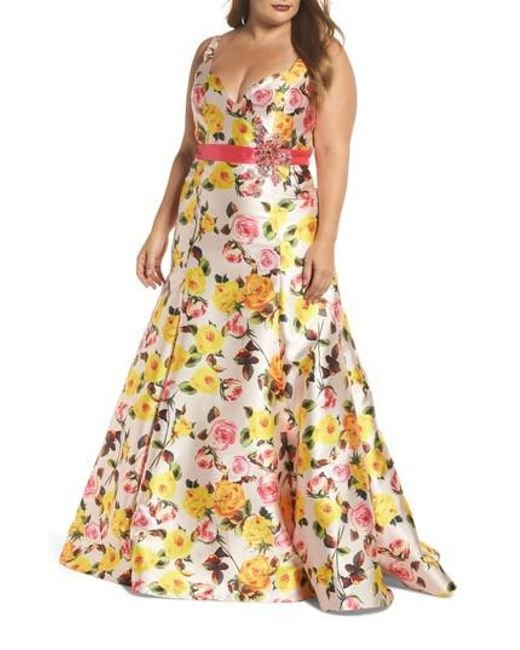 Mac Duggal - Multicolor Floral Trumpet Gown - Lyst